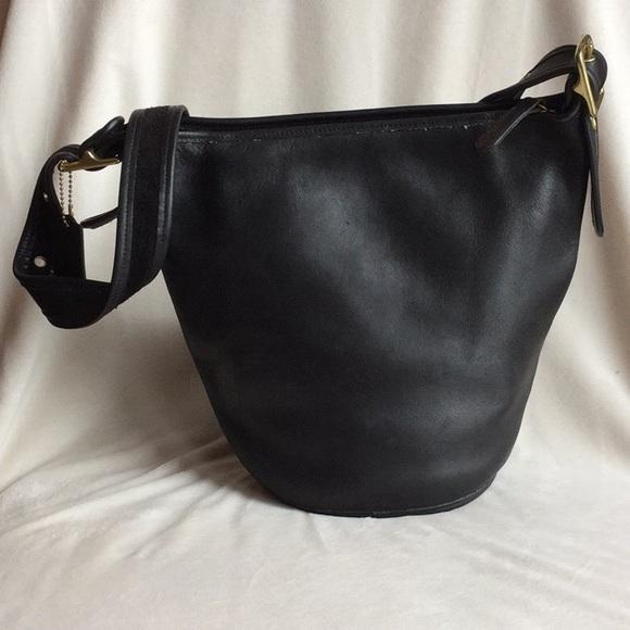 a617b0899603 COACH Handbags - LARGE VINTAGE COACH NUBUCK BUCKET CROSS BODY BAG
